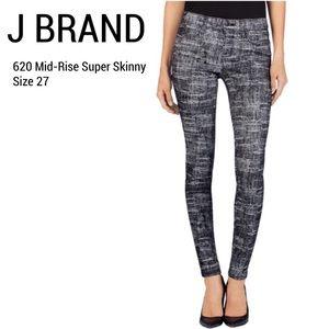 J Brand Super Skinny Jeans, Fog, 28